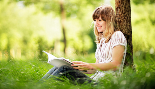 young-woman-reading-nature