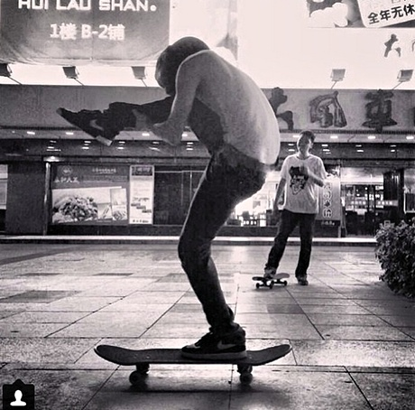 Ai Weiwei's picture of a Chinese skateboarder
