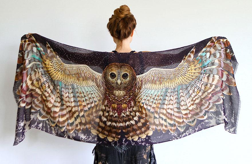 Șaluri inspirate din lumea păsărilor