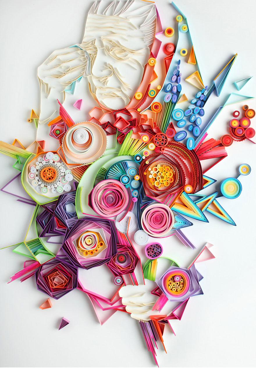 Artă în culorile hărtiei pliate