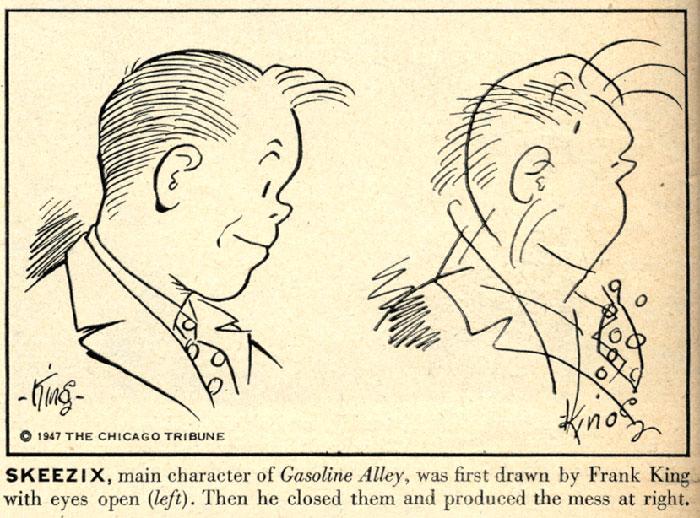 Benzi desenate cu ochii închiși