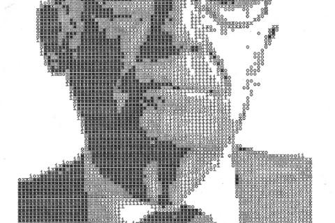 Portrete de scriistori faimoși la mașina de scris