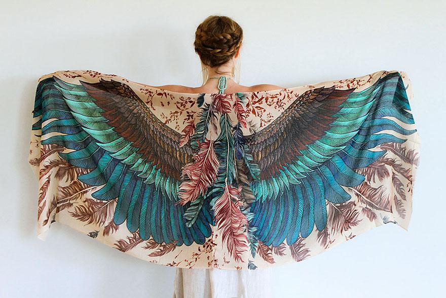 bird-scarves-wings-feather-fashion-design-shovava-1