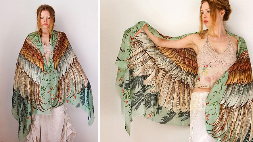 bird-scarves-wings-feather-fashion-design-shovava-14