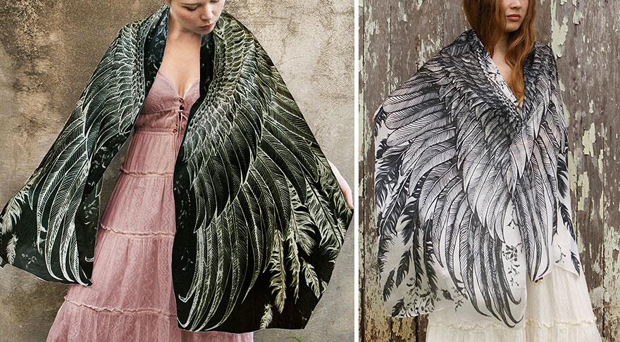 bird-scarves-wings-feather-fashion-design-shovava-8