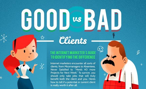 Clienți buni vs clienți răi într-un infografic util