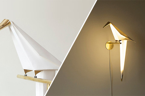 Lampa inspirată din eleganța păsărilor