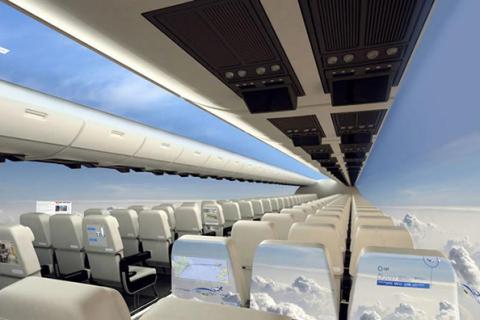 Avioane cu panoramă spectaculoasă