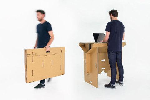 Biroul ecologic și portabil din carton