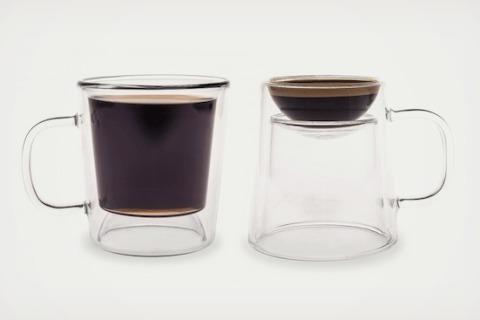 Cana dublă pentru espresso și cafea