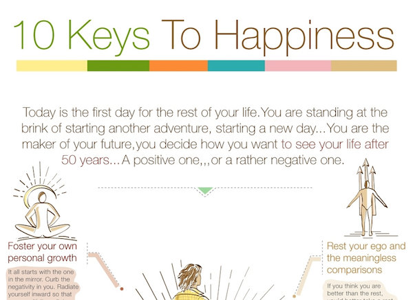 10 sfaturi pentru a atinge fericirea