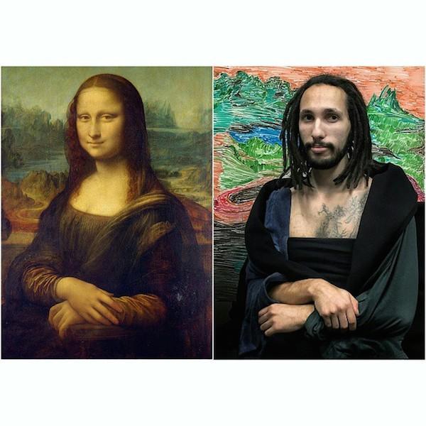 Angajații care recrează lucrări faimoase de artă