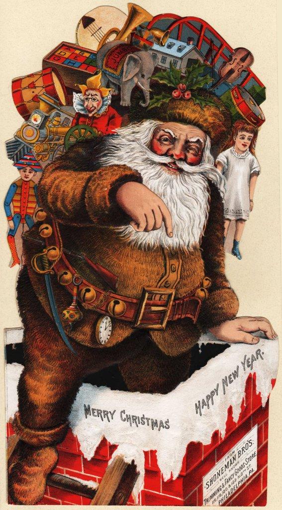 Advertising Santa Loaded Die Cut