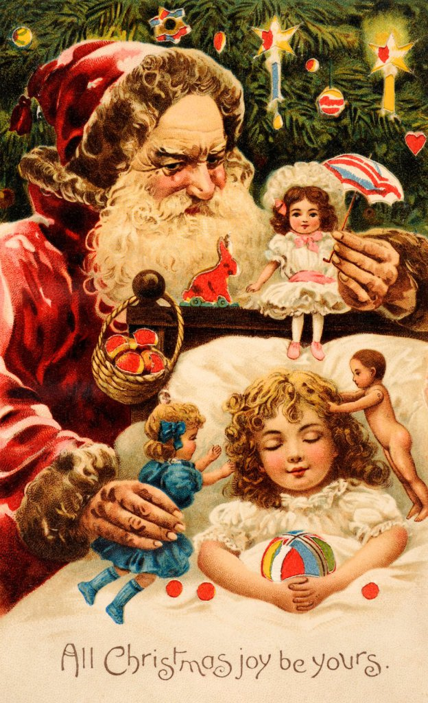 Colour Illustration Celebrating Christmas
