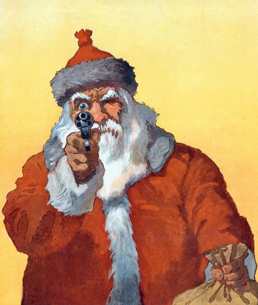 Santa Claus Pointing A Gun