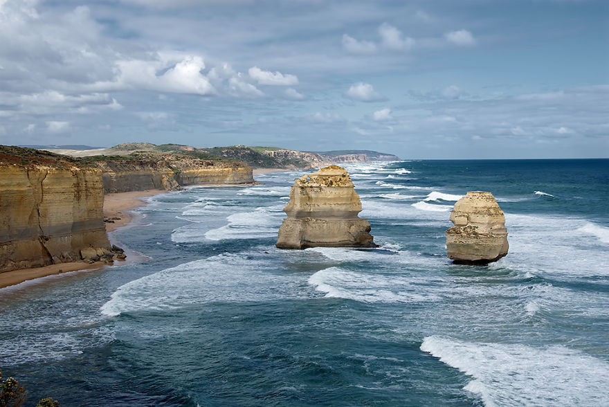 The Twelve Apostles on a stormy day, Great Ocean Road, Victoria,